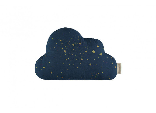 Coussin Cloud • gold stella night blue
